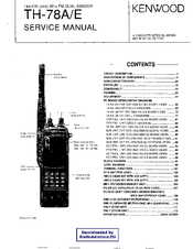 Kenwood TH-78E Manuals