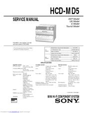 Sony HCD-MD5 Manuals