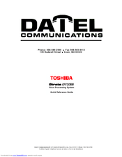Toshiba Strata CTX28 Manuals