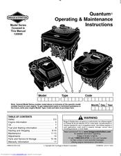 Briggs & Stratton 120000 Quantum 675 Series Manuals