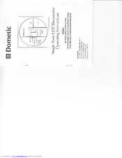 Dometic Single Zone LCD Thermostat Manuals