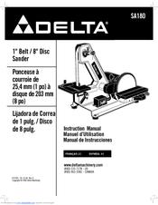 Delta SA180 Manuals