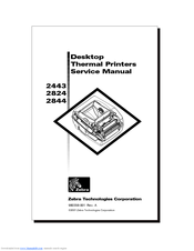 Zebra 2844 Printer Manuals