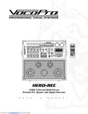 Vocopro Hero-Rec Manuals
