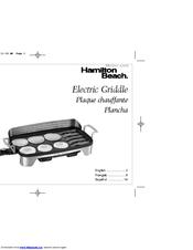 Hamilton Beach Electric Griddle Manuals