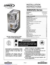 Lennox G50UH-60C-110 Manuals