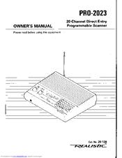 Realistic PRO-2023 Manuals