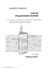 Realistic PRO-43 Manuals