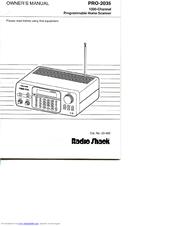 Radio Shack Pro-2035 Manuals