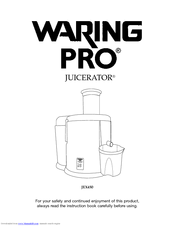 Waring PRO JEX450 Manuals
