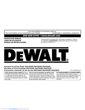 Dewalt DXH190HD Manuals
