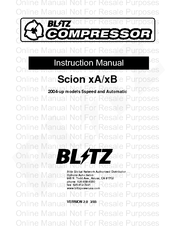 Blitz Scion xB Manuals