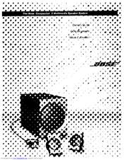 Bose Companion 3 Manuals