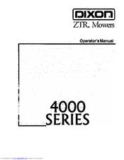 Dixon ZTR 4423 Manuals