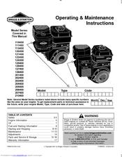Briggs & Stratton 205400 Series Manuals