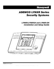 Honeywell ADEMCO LYNXR-EN Manuals