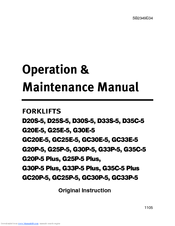 Doosan G30P-5 Manuals