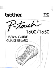 Brother P-touch 1650 Manuals