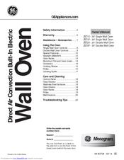 Ge Monogram ZET2P Manuals