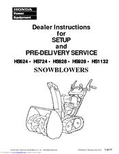 Honda HS928 Manuals