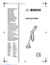 Bosch Art 26 Easytrim Accu Manuals