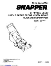 Snapper 7800923-00 Manuals