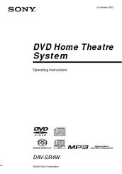Sony DAV-SR4W Manuals