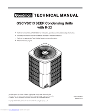 Goodman GSC130301A Manuals