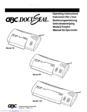 Gbc 125 Manuals