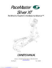 Pacemaster Silver XT Manuals