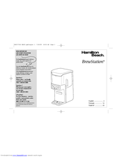 Hamilton Beach BrewStation Manuals