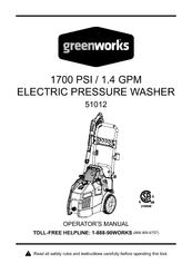 Greenworks 51012 Manuals