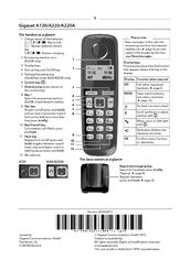 Gigaset A120 Manuals