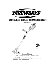Yardworks Grass trimmer/edger Manuals