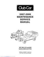 Club Car XRT 810 Manuals