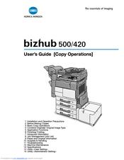 Konica Minolta BIZHUB 420 Manuals