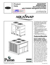 Carrier Aquasnap 30RAP030 Manuals