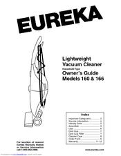 Eureka 166 Manuals