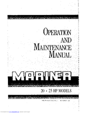 Mariner 25 HP Manuals