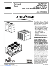 Carrier Aquasnap 30RAP080 Manuals