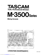 Tascam M-3500 series Manuals