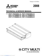 Mitsubishi PEFY-P06NMSU-E Manuals
