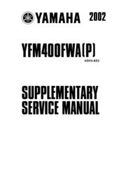 Yamaha YFM 400 FWA P Manuals