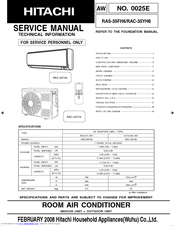 Hitachi RAC-35YH6 Manuals