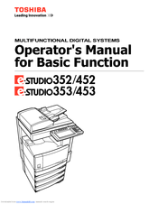 Toshiba e-STUDIO 452 Manuals