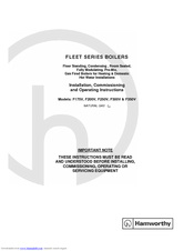 Hamworthy F350V Manuals