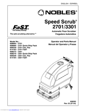 Nobles Speed Scrub 3301 Manuals