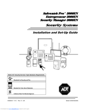 Adt Safewatch Pro 3000EN Manuals