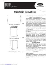 Carrier HRVCCLHA1150 Manuals