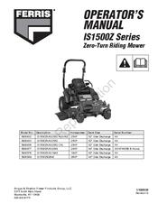 Ferris IS1500Z Series Manuals